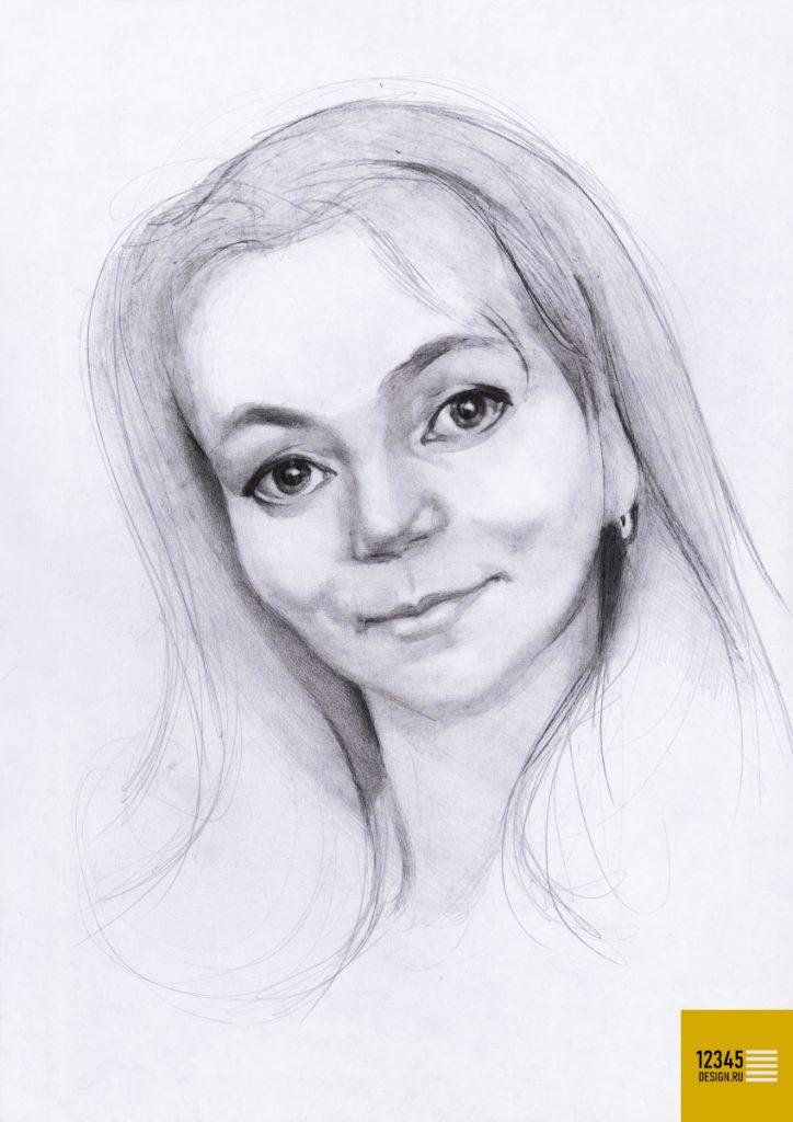 Портрет молодой танцовщицы (карандашный рисунок)